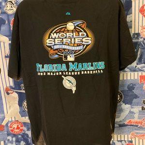 2003 Florida Marlins World Series Bleached T-shirt
